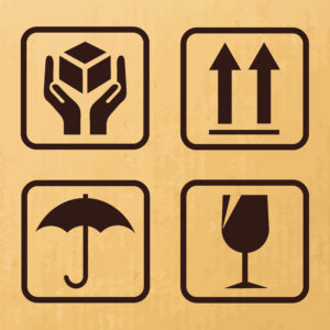 delivery and packaging care symbols